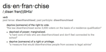 Disenfranchisement